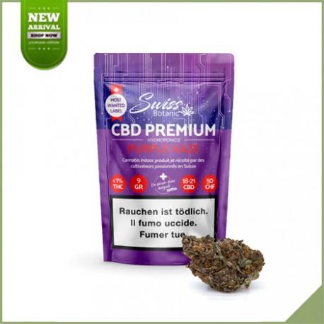 Fleurs de cannabis CBD Swiss Botanic Purple Haze