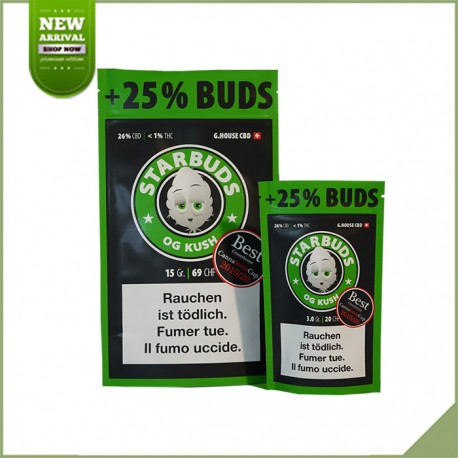 Fleurs de cannabis CBD Starbuds OG Kush