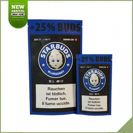 Fleurs de cannabis CBD Starbuds Blueberry 11g 22%