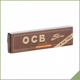 Lange Blätter zum Rollen OCB Virgin Slim + tips