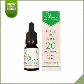 Huile de cannabis CBD 20% KDC Organic 10ml