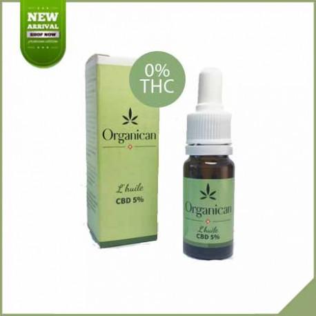 Huile de cannabis CBD Organican 10 ml