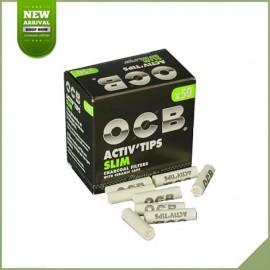 Filtres à charbon actif OCB Activ'tips slim 50 pièces