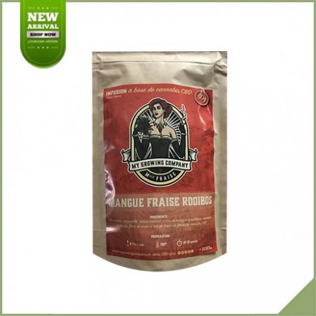 Infusion cbd mangue fraise rooibos - My Growing Company
